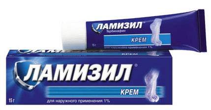 На фото: крем Ламизил